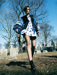 Fashion editorial featuring looks from Louis Vuitton.