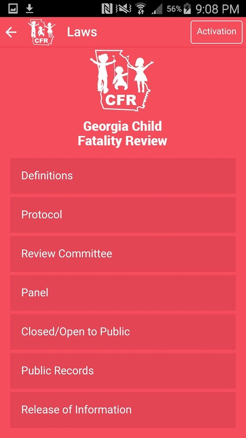 Georgia Child Fatality Review- screenshot