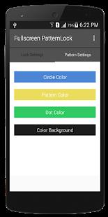 FullScreen Pattern Lock - náhled
