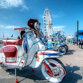 Mod  meet up Brighton  by Mark West - City,  Street & Park  Street Scenes