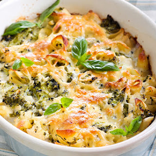 Cheesy Broccoli & Cauliflower Casserole.