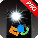 Flash alerts on call and sms - Ringing flashlight icon
