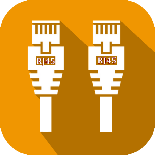 RJ45 Color Code Cable Wiring Icon