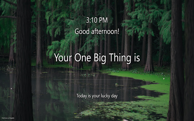 Focus: One Big Thing