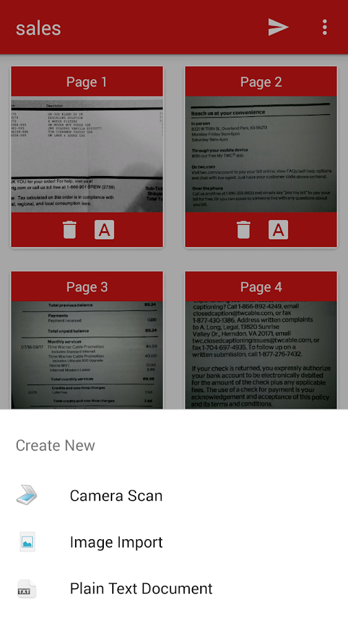 PDF Document Scanner- screenshot