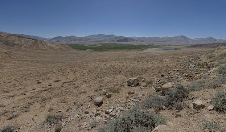 Der Ort Bulunkul wurde am Rande des Sees gegründet.