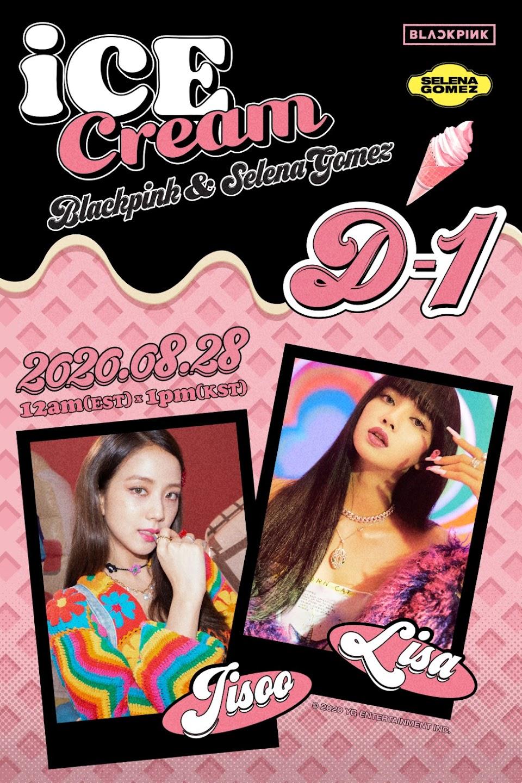 blackpink lisa jisoo ice cream teaser
