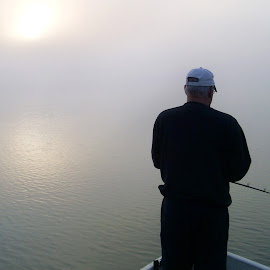 Fishing in the Fog on Lac Heney by Jerry Hoffman - Sports & Fitness Other Sports (  )
