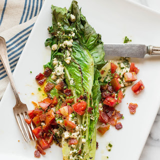 Grilled Romaine Wedge Salads with Blue Cheese Vinaigrette