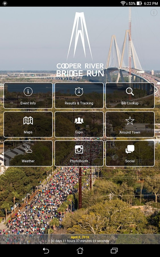 Cooper River Bridge Run- screenshot