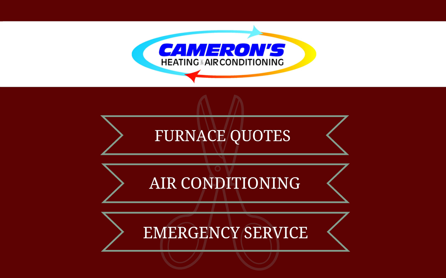 Camerons HVAC- screenshot