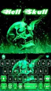 Hell Skull Kika Keyboard Theme - náhled