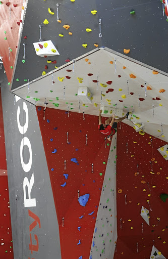 Kent Jennings practises his skills at the CityROCK indoor climbing centre in Paarden Eiland, Cape Town.
