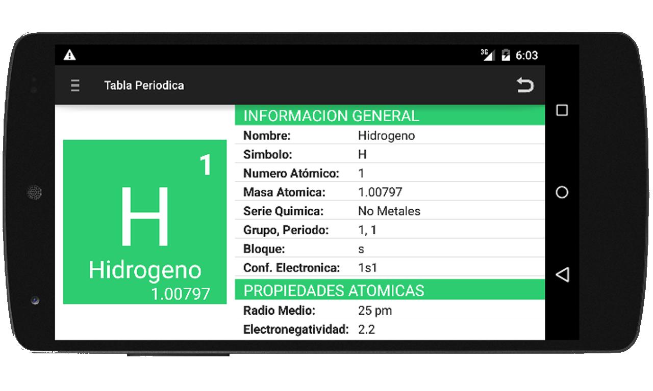 Tabla periodica y nomenclatura android apps on google play tabla periodica y nomenclatura screenshot urtaz Gallery