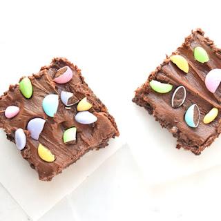 Healthy Brownies with Dark Chocolate Fudge Frosting.