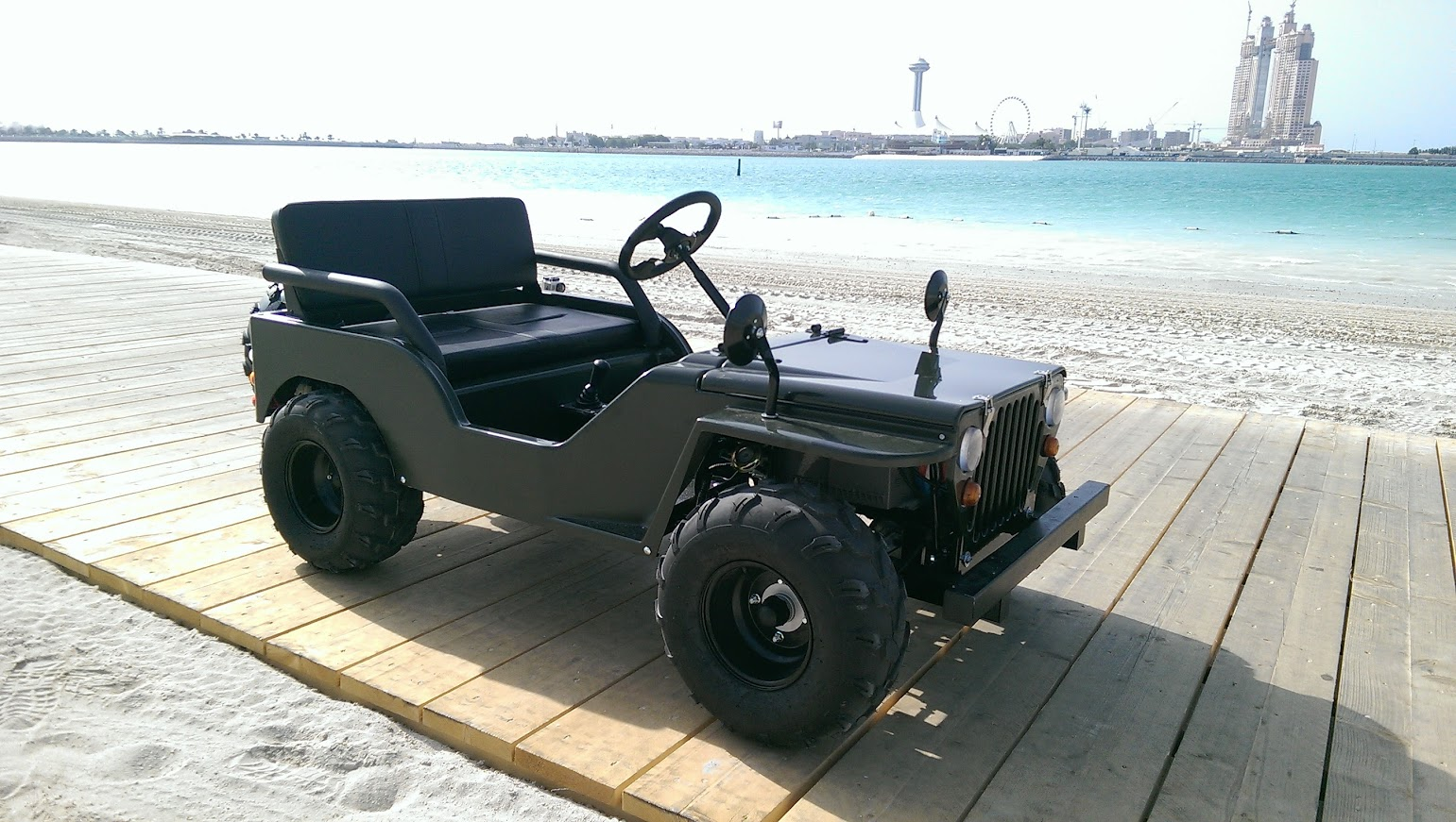 Electric Mini Army Jeep 1500w UAE Abu Dhabi Mother of Nation festival