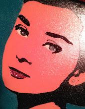 """Photo: Arianna - """"Love in the Afternoon (Ariane)""""  20x20cm  Soggetto realizzato con stencil fatto a mano, colori acrilici spray, strass, perle, glitter nero e rosa su tela.  Subject made with handmade stencil with spray acrylic colours, strass, pearls, black and pink glitters on canvas.  DISPONIBILE  Per informazioni e prezzi: manualedelrisveglio@gmail.com"""