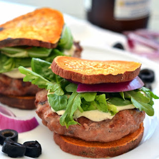 Greek Stuffed Turkey Burgers