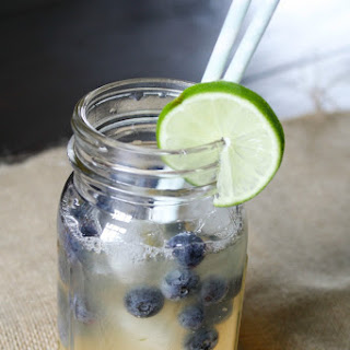 Honey-Sweetened Limeade with Blueberries.