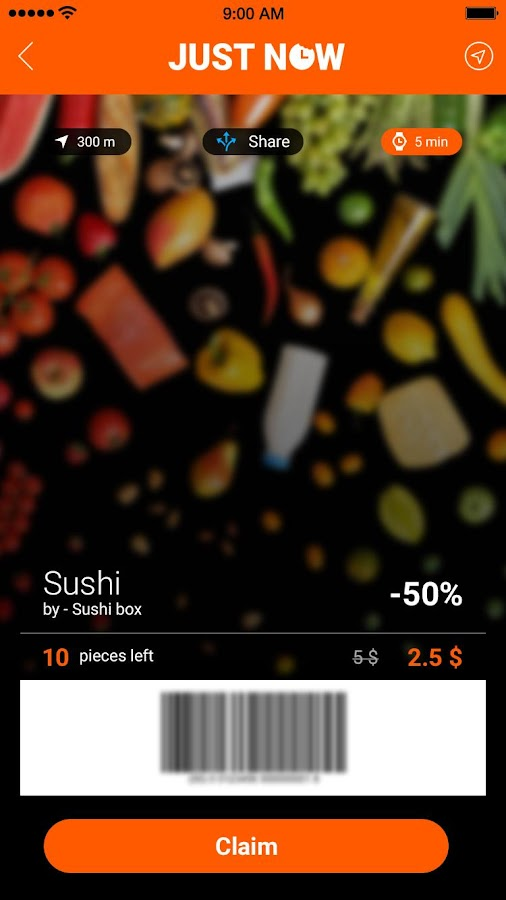 JustNow Food- screenshot