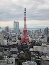 Photo: Tokyo tower above Zojyoji Temple