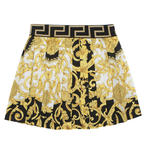 Primary image of Young Versace Cotton Baroque Skirt