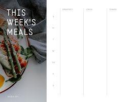 This Week's 3 Meals - Planner item