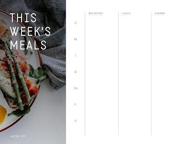 This Week's 3 Meals - Planner Template