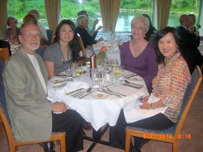 Photo: Steve, Peichi, Pat and Peggy at our farewell dinner.