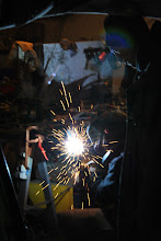 Photo: In the process of welding...