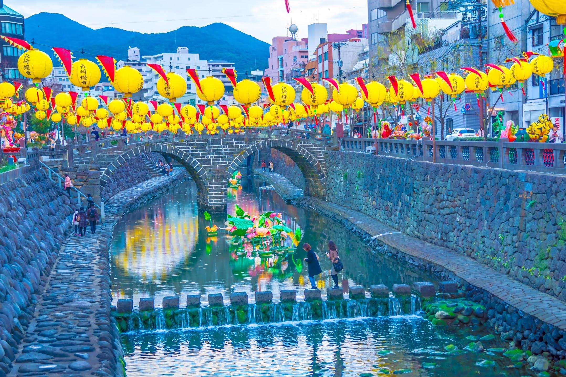Nagasaki Meganebashi Bridge2