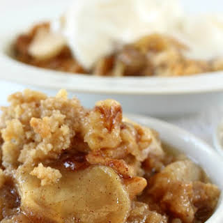 Apple Pear Walnut Crisp.