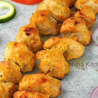 Joojeh Kabab | Persian Grilled Saffron Chicken | Saffron Flavored Chicken Kebab