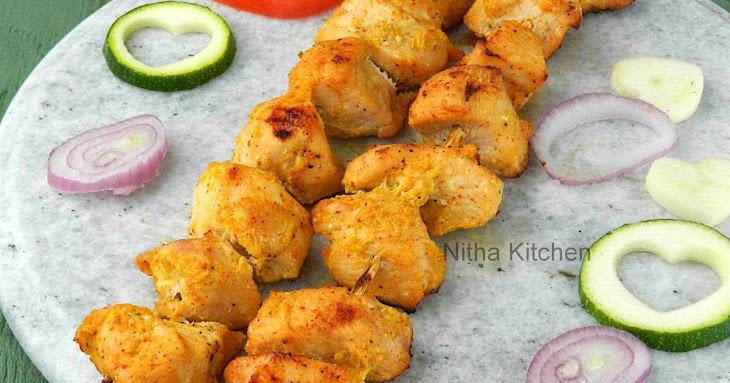 Joojeh Kabab   Persian Grilled Saffron Chicken   Saffron Flavored Chicken Kebab Recipe