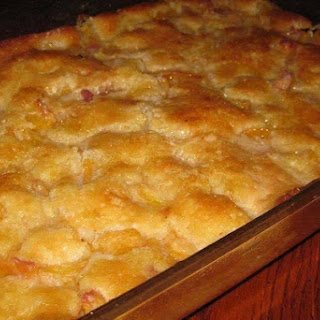 "LAZY MAN'S"" PIE- PEACH COBBLER Recipe"