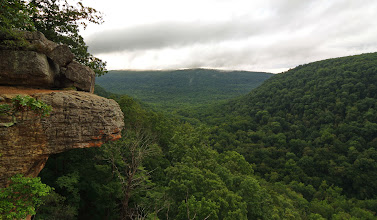 Photo: View down Whitaker Creek from Hawksbill Crag