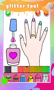 Glitter Nail Drawing Book and Coloring Game 3