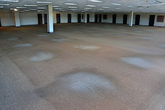 Photo: Second floor, east side, north of the center hall. Notice the wear patterns