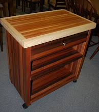 Photo: Sing Honeycomb Kitchen Island carts look great in light or dark stain. They are lightweight and roll easily.