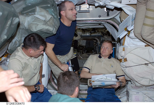 STS-126 Crewmembers in Node 1