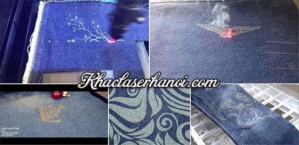 Dịch vụ cắt khắc laser lên vải jeans chuyên nghiệp tại Hà Nội. Hotline: 0961.212.830
