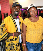 #KFCProposal couple Hector Mkansi  and Nonhlahla Soldaat attended  the Soweto derby at FNB Stadium on Saturday. /SUPPLIED