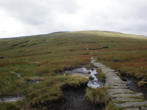 Photo: Looking backward while going down from Great Shunner Fell
