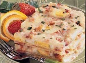 Easter Brunch:  Bacon 'n' Egg Lasagna