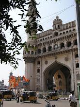 Photo: 7B130019 Hyderabad - Charminar (1591) 49 m