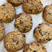Almond Oatmeal Chocolate Chip Cookies