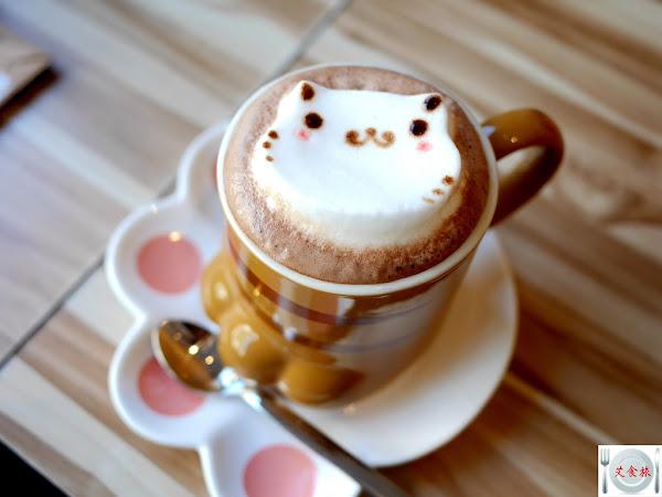 框影咖啡 立體拉花咖啡、還有店貓陪喝下午茶 不限時咖啡館、提供免費wifi、插座