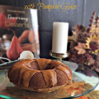 Cinnamon Buttermilk Bundt with Pumpkin Glaze