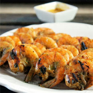 Grilled Jamaican Jerk Shrimp with Mango Chutney