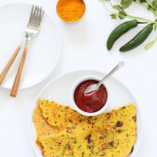 Vegan Chickpea flour Pancakes - Besan Chilla